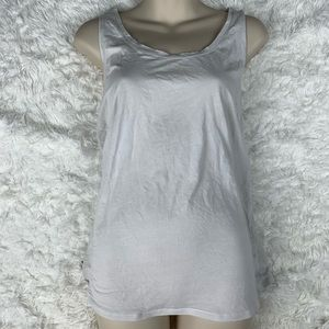 Lululemon Athletica Racer Back Tank White Grey M